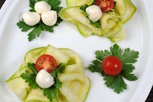 Appetizer of zucchini