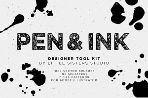 Pen & Ink - Vector Brush Tool Kit