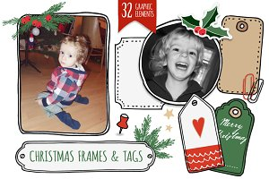 The Christmas frames & tags