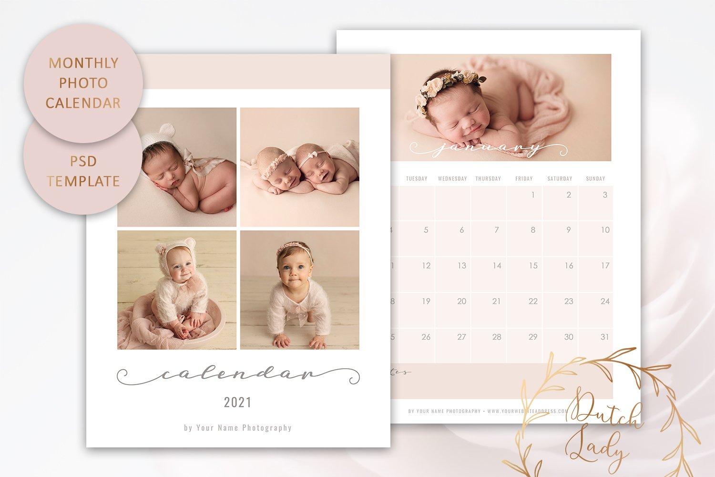 PSD Photo Calendar Template 2021 #2 | Creative Photoshop Templates