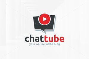 Chat Tube Logo Template