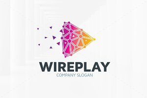 Wire Play Logo Template