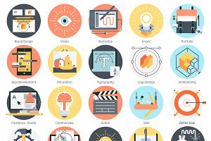 Creative design icon set