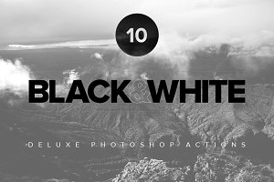 Premium Black & White PS Actions