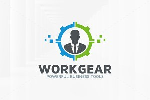 Work Gear Logo Template