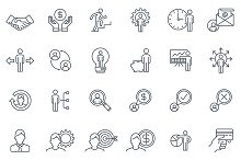 Business and finance icon set suitab