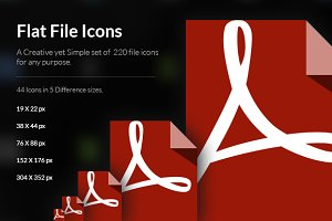 Creative Flat File icons