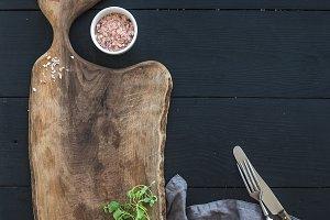Old rustic chopping board