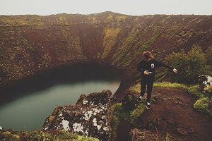 Crater in Iceland