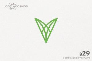 Vitality Letter V Logo