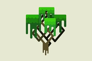 Stylized geometric design of tree
