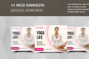 YOGA LIFE - ADS Banners