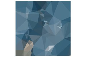 Cerulean Frost Blue Abstract Low Pol