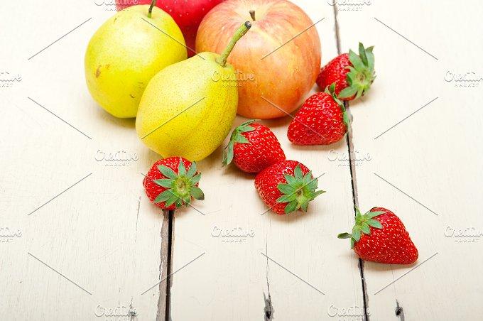 fruits on white wood table 008.jpg - Food & Drink
