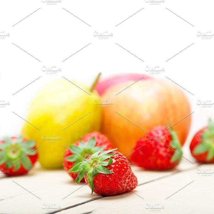 fruits on white wood table 015.jpg - Food & Drink