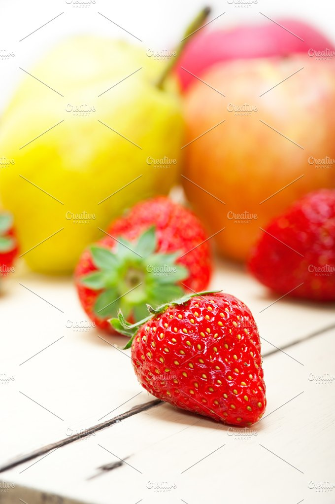 fruits on white wood table 013.jpg - Food & Drink
