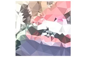 Lavender Pink Abstract Low Polygon B