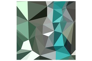 Persian Green Abstract Low Polygon B