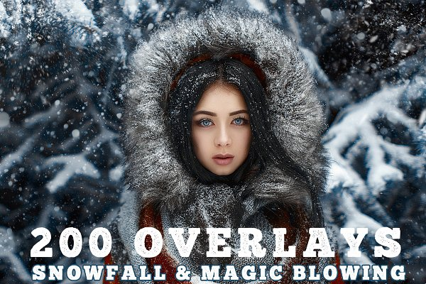 200 Snowfall and magic, snow blowing
