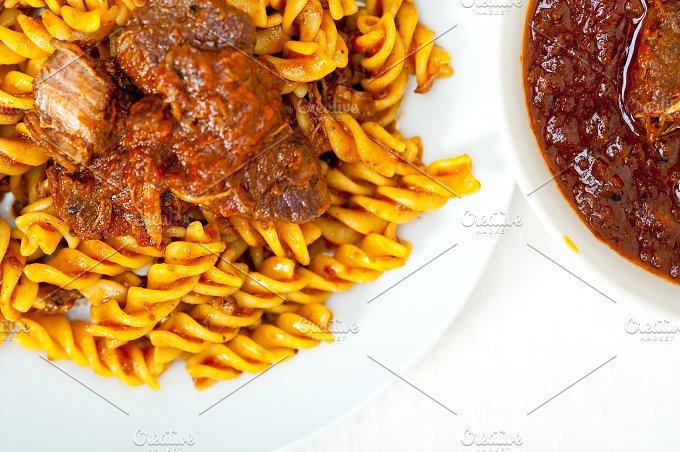 fusilli pasta with Neapolitan style ragu sauce 010.jpg - Food & Drink