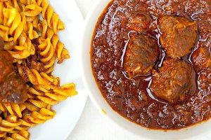 fusilli pasta with Neapolitan style ragu sauce 009.jpg