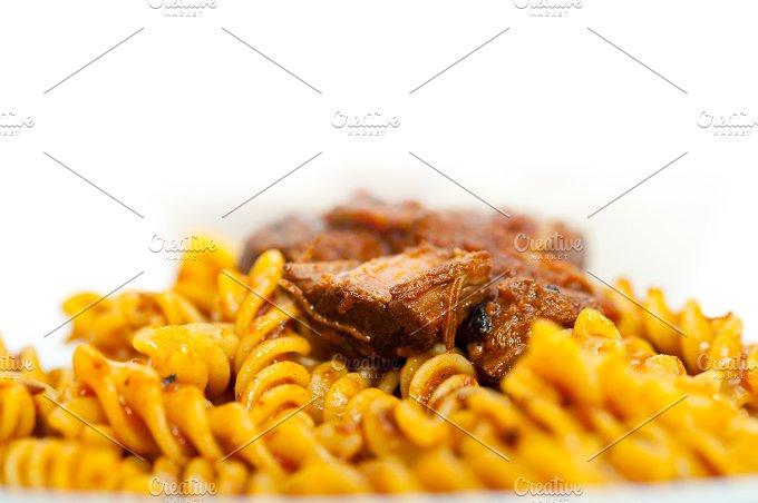 fusilli pasta with Neapolitan style ragu sauce 014.jpg - Food & Drink