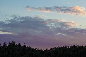 Purple Sunset, Orcas Island