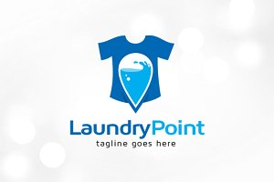 Laundry Point Logo Template