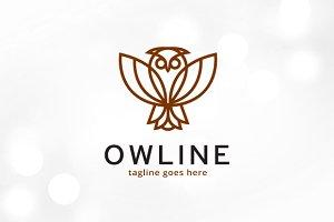 Owl Line Logo Template