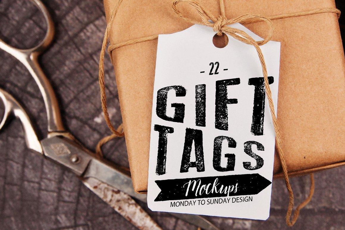 22 gift tag mockups flat product mockups creative market reheart Choice Image