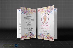 Funeral Program Template -Watercolor