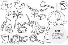 Vector children's toys
