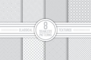 Classical seamless patterns set