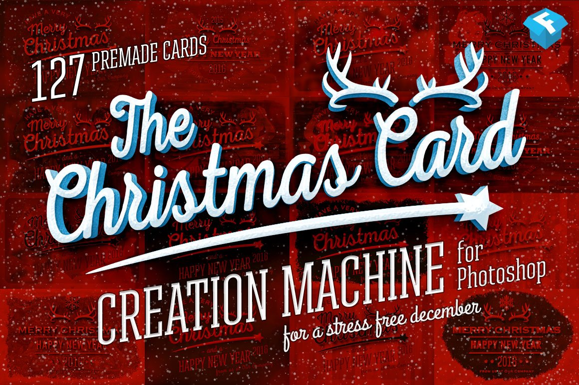 christmas card creation machine layer styles creative market