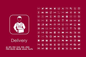 121 delivery icons