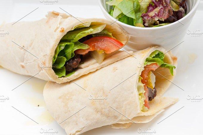 kafta chicken tomato lettuce pita wrap sandwich 33.jpg - Food & Drink