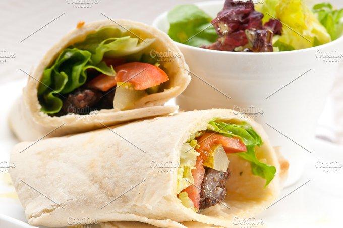 kafta chicken tomato lettuce pita wrap sandwich 04.jpg - Food & Drink