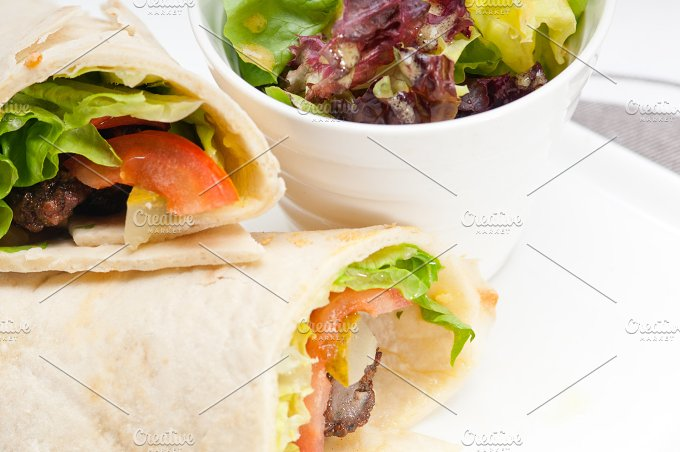 kafta chicken tomato lettuce pita wrap sandwich 09.jpg - Food & Drink