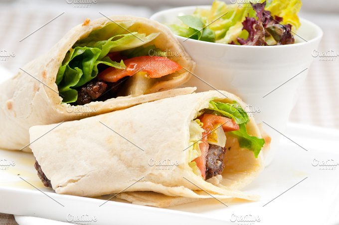 kafta chicken tomato lettuce pita wrap sandwich 17.jpg - Food & Drink