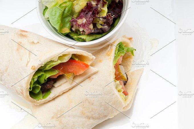 kafta chicken tomato lettuce pita wrap sandwich 14.jpg - Food & Drink