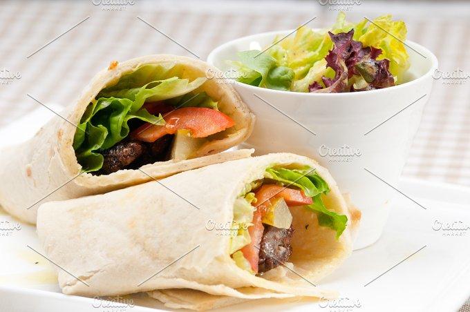 kafta chicken tomato lettuce pita wrap sandwich 16.jpg - Food & Drink