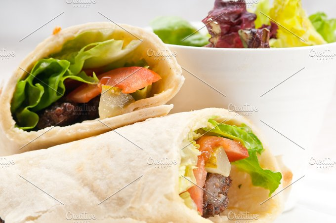 kafta chicken tomato lettuce pita wrap sandwich 11.jpg - Food & Drink