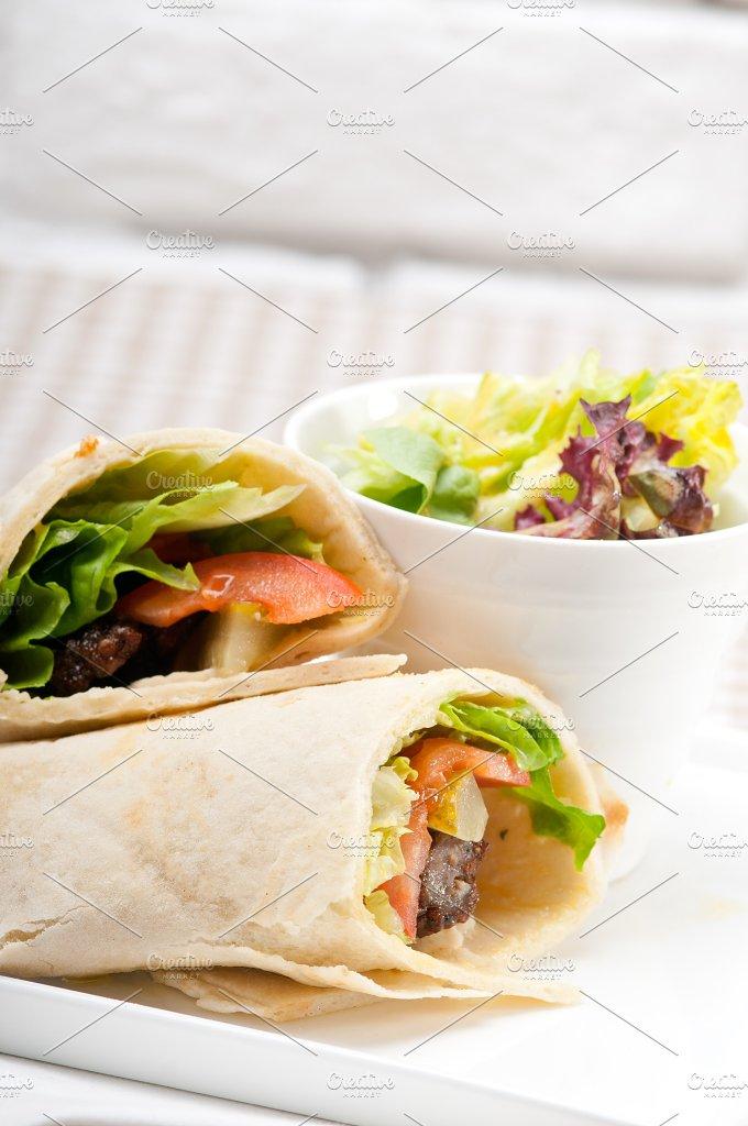 kafta chicken tomato lettuce pita wrap sandwich 18.jpg - Food & Drink
