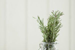 Rosemary in a Small Jar