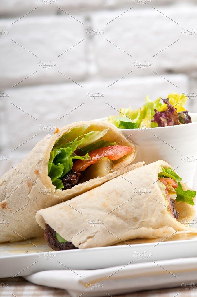 kafta chicken tomato lettuce pita wrap sandwich 24.jpg - Food & Drink