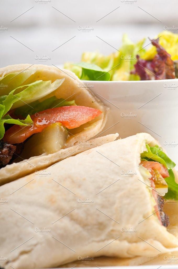kafta chicken tomato lettuce pita wrap sandwich 26.jpg - Food & Drink