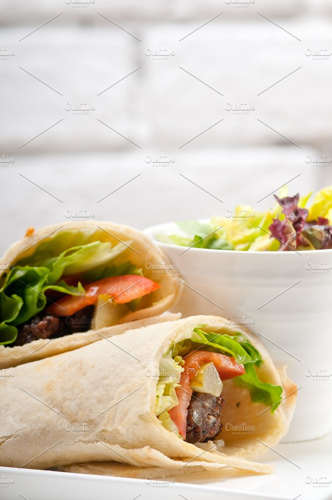 kafta chicken tomato lettuce pita wrap sandwich 29.jpg - Food & Drink