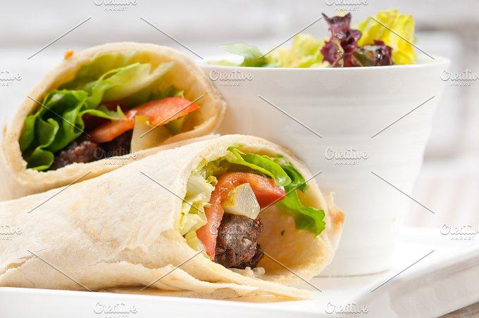 kafta chicken tomato lettuce pita wrap sandwich 31.jpg - Food & Drink