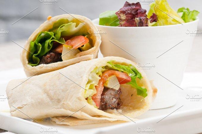 kafta chicken tomato lettuce pita wrap sandwich 07.jpg - Food & Drink