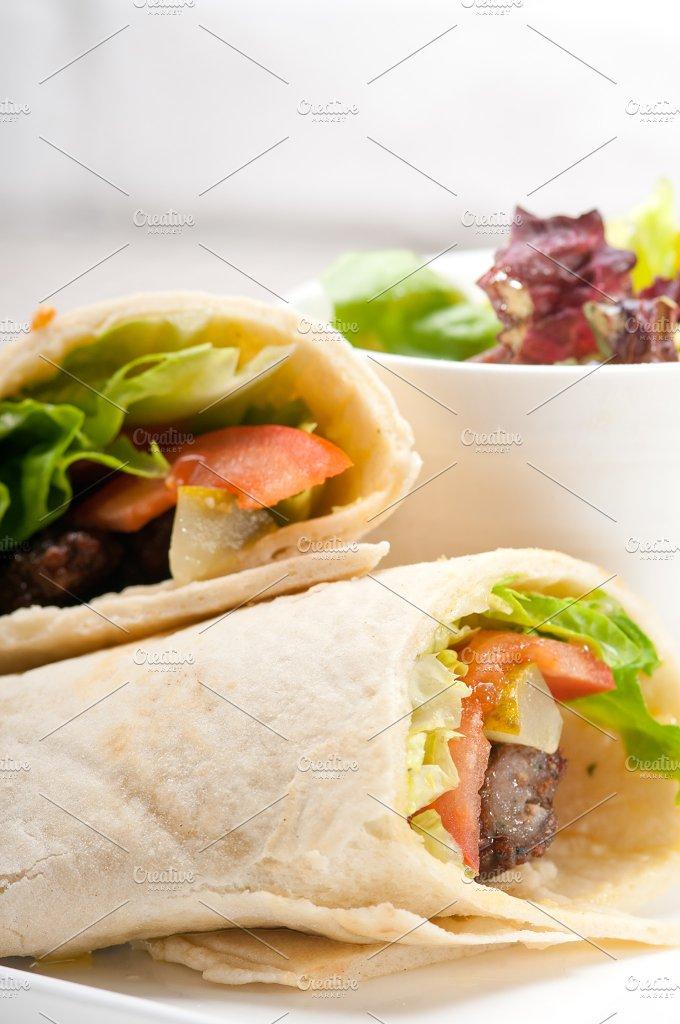 kafta chicken tomato lettuce pita wrap sandwich 10.jpg - Food & Drink